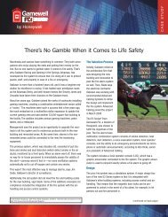 There's No Gamble When it Comes to Life Safety - Gamewell-FCI