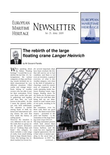 Newsletter Nr 25 i A4 - European Maritime Heritage EMH