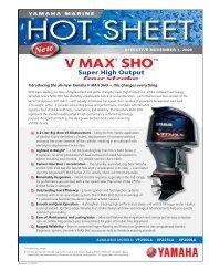 VMAX SHO Hot Sheet.indd - Yamaha