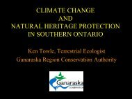 Climate Change and Natural Heritage Protection in Southern Ontario