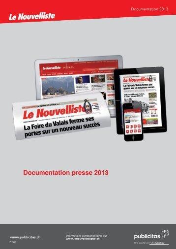 Documentation presse 2013 - Le Nouvelliste – Publicité Presse ...