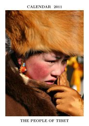 CALENDAR 2011 THE PEOPLE OF TIBET - Alistair J Bray