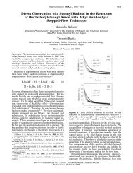 Direct Observation of a Stannyl Radical in the Reactions of the ...