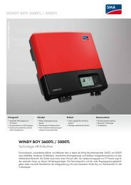 Windy Boy 3600TL / 5000TL - SMA Solar Technology AG