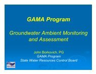 GAMA Program - State Water Resources Control Board