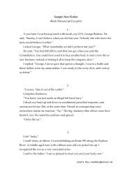 Sample Non-Fiction (Book Manuscript Exceprts) 1. A ... - Josef S. Klus