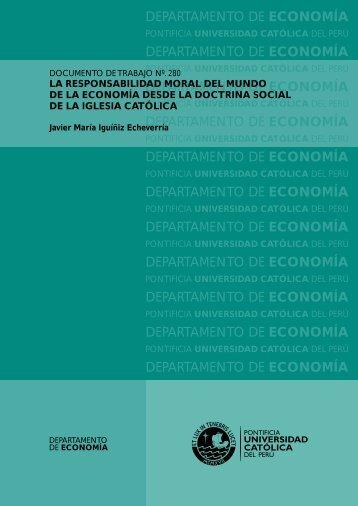 la responsabilidad moral del mundo de la economía desde la ...
