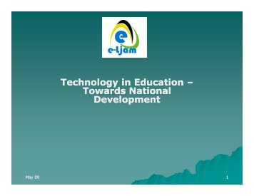 Technology in Education and National Development - The National ...