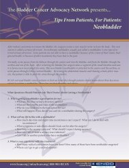 Neobladder - Bladder Cancer Advocacy Network