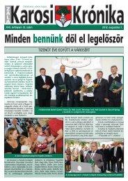 2012. augusztus 1-i szám - Zalakaros