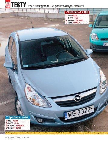 Testy. Trzy auta segmentu B z podstawowymi ... - Opel Dixi-Car