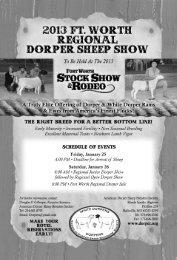 2013 Ft. Worth Sale Catalog - American Dorper Sheep Breeders ...