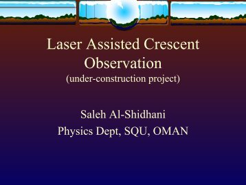 Laser Assisted Crescent Observation - Islamic Crescents ...