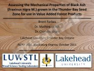 Assessing the Mechanical Properties of Black Ash - Department of ...