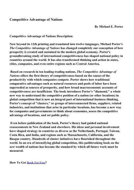 Porter pdf michael understanding