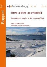 Støyrapport Ramnes skyte- og øvingsfelt.pdf - Forsvarsbygg