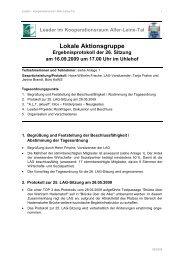 26. LAG-Sitzung am 16.09.2009 - bei Leader im Aller-Leine-Tal