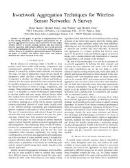 In-network Aggregation Techniques for Wireless Sensor Networks: A ...