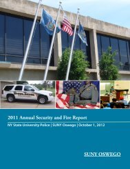 2011 Annual Security and Fire Report - Oswego