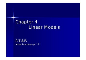 Chapter 4 Linear Models