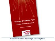 Complex Numbers Teaching & Learning Plan - Project Maths