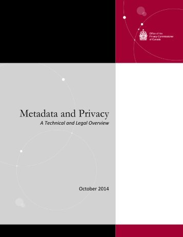 Metadata and Privacy