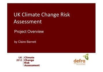 UK Climate Change Risk Assessment - sages