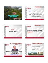 audit prestasi akademik part a - UPM - Universiti Putra Malaysia