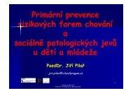 1 Prevence sociálně patologických jevů u dětí a [režim kompatibility]