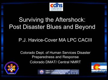 Surviving The Aftershock: Post Disaster Blues and Beyond