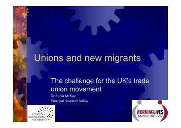 Unions and new migrants