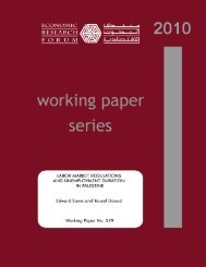 labor market regulations and unemployment duration in palestine