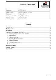 Request for Tender Documents - Mintek