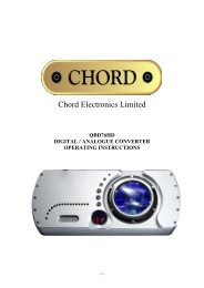 QBD76HD manual.pdf - Chord Electronics