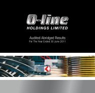 to download the O-Line Abridged Annual Report