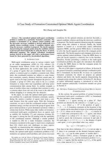 A Case Study of Formation Constrained Optimal Multi-Agent ...