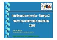 Výzva na podávanie projektov 2009 - Slovenská inovačná a ...