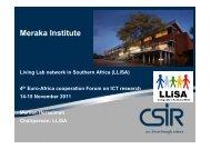 Meraka Institute - EuroAfrica-ICT