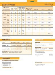 MM-PRICES INSERTIONS STANDARD PRICES DISCOUNTS - Visier