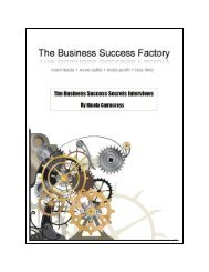 Contents - The Business Success Factory