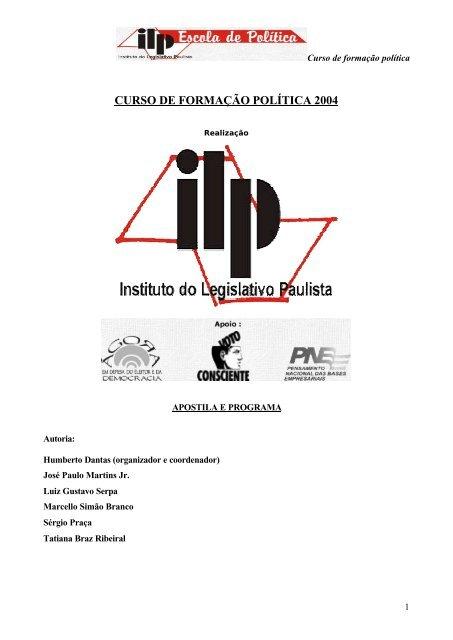 CURSO DE FORMAÇÃO POLÍTICA 2004 - Assembleia Legislativa ...