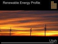Renewable Energy - Economic Development Corporation Utah