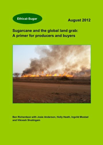 August 2012 Sugarcane and the global land grab: A ... - Sucre Ethique