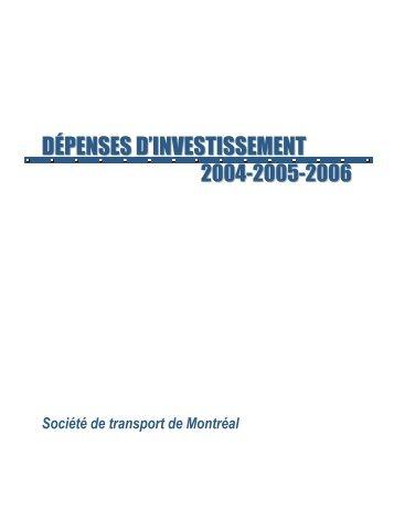 2004 à 2006 - Société de transport de Montréal