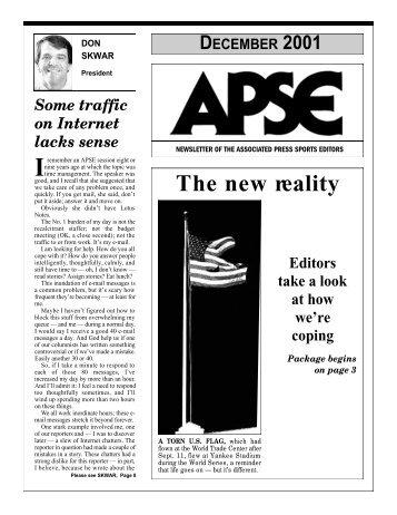 The new re a l i t y - Associated Press Sports Editors - APSE