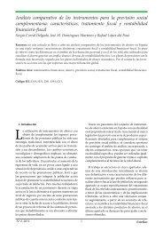 Análisis comparativo de los instrumentos para la previsión ... - extoikos