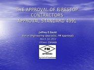 I - Install - Jeff Gould, FM Approvals - FCIA - Firestop Contractors ...
