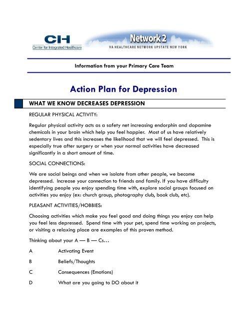 Action Plan For Depression Va Mental Health