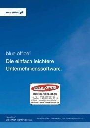 KMU-Software Broschüre blue office A5 - Ruoss-Kistler AG