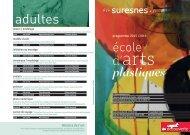 Plaquette de présentation de l'école d'arts plastiques - Suresnes